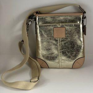 Coach Metallic Swingpack Crossbody Bag